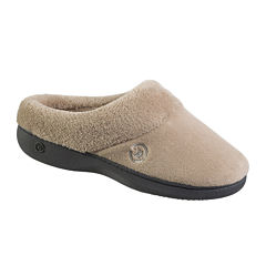 Isotoner® Mixed Microterry Hoodback Clog Slippers