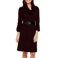 Alyx® 3/4-Sleeve Belted Sweater Dress - Petite