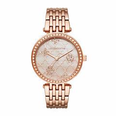 Liz Claiborne Womens Rose Goldtone Bracelet Watch-Lc4000