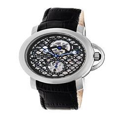 Heritor Mens Black Strap Watch-Herhr4002