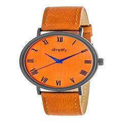 Simplify Unisex Orange Strap Watch-Sim2907
