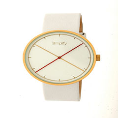Simplify Unisex White Strap Watch-Sim4104