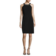 Jump Apparel Sleeveless Embellished A-Line Dress-Talls