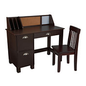 KidKraft® Study Desk with Drawers - Espresso