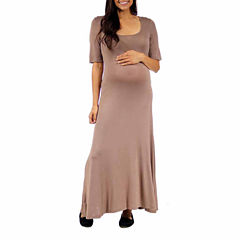 24/7 Comfort Apparel Maxi Dress-Plus Maternity