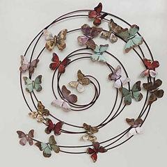 Swirling Butterflies Wall Decor