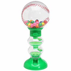 Sweet N Fun Baseball Gumball Machine Bank with Gumballs