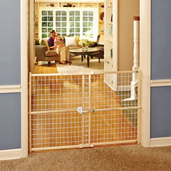 North States Quick Fit Wire Mesh Baby Gate