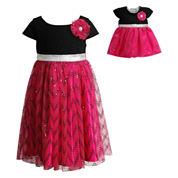 Young Land Short Sleeve Cap Sleeve Dress Set - Preschool