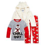 Bunz Kidz Boys Long Sleeve Kids Pajama Set-Toddler