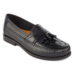 Stafford® Burke Mens Leather Tassel Loafers