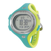 Soleus Chicked Womens Teal and Yellow Digital Running Watch