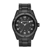 Claiborne® Mens Black Strap Sport Watch