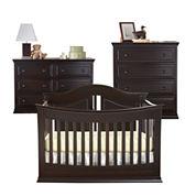 Rockland Austin 3-pc. Baby Furniture Set - Espresso