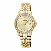 Seiko Womens Gold Tone Bracelet Watch-Sur728