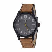 Brooklyn Exchange Mens Brown Bracelet Watch Nwl398996mb-Bk