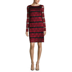 Jessica Howard Long Sleeve Sheath Dress