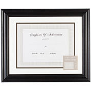 Black Document and Certificate Frame