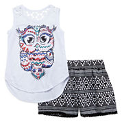 Self Esteem® Crochet Top and Pompom Shorts - Girls 7-16