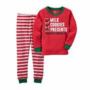 Carter's Boys Long Sleeve Pant Pajama Set-Toddler
