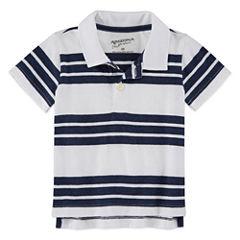 Arizona Short Sleeve Stripe Polo Shirt - Baby Boys