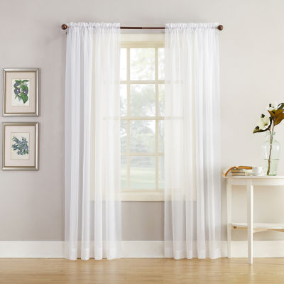 Home Expressions™ Jacqueline Rod Pocket Sheer Panel Pair