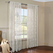 Mona Lisa Jacq Lace Rod-Pocket Sheer Curtain Panel