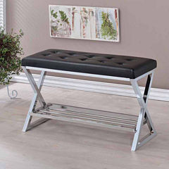 Kerris Contemporary Tufted Bench