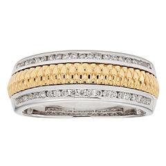Diamente Beaute Womens 1/3 CT. T.W. Genuine White Diamond 14K Gold Wedding Band