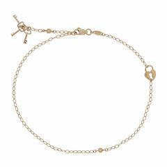 Womens 14K Gold Ankle Bracelet