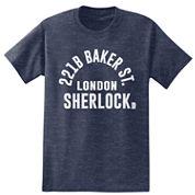 Short Sleeve Sherlock Holmes Crew Neck T-Shirt