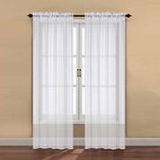 2-Pack Rod-Pocket Sheer Curtain Panel