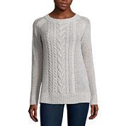 St. John`s Bay Crew Neck Pullover Sweater