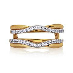 3/8 CT. T.W. Diamond 14K Yellow Gold Contour Ring Wrap