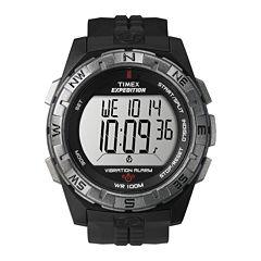 Timex® Expedition® Mens Black Resin Strap Vibration Alarm Watch T498519J