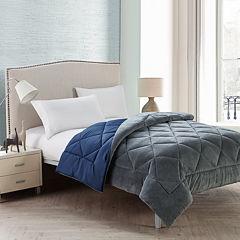 VCNY Kyle Plush Plaid Reversible Comforter