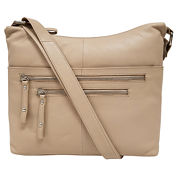 east 5th Leather Front Zip Crossbody Bag
