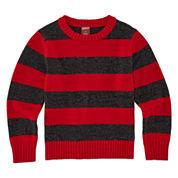 Arizona Crew Neck Long Sleeve Pullover Sweater - Toddler