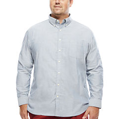The Foundry Supply Co.™ Long-Sleeve Easy-Care Oxford Shirt - Big & Tall