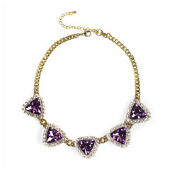 Mixit™ Purple Stone Statement Necklace