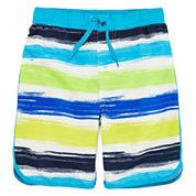 Arizona Crayon Stripe Swim Trunks - Preschool Boys 4-7