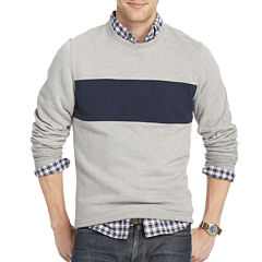 IZOD Striped Crewneck Fleece Pullover
