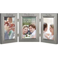 Burnes of Boston® Wedding Hinged 3-Opening 4x6