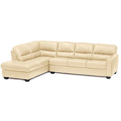 Leather Possibilities Track-Arm 2-pc. Left-Arm Corner Sectional
