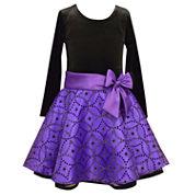 Bonnie Jean Long Sleeve Drop Waist Dress - Big Kid