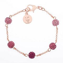 Liz Claiborne Womens Pink Beaded Bracelet