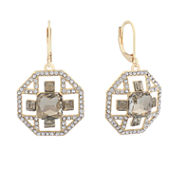 Monet Brown And Goldtone Drama Earring