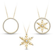Womens 18 Inch White Cubic Zirconia Gold Over Silver Link Necklace