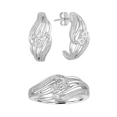 2-pc. 1/10 CT. T.W. White Diamond Jewelry Set