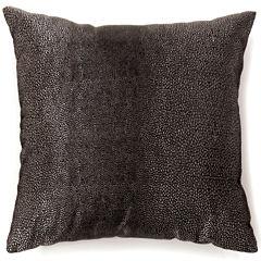 Knox Large Black Decorative Square Throw Pillow